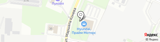 Северный на карте Вологды
