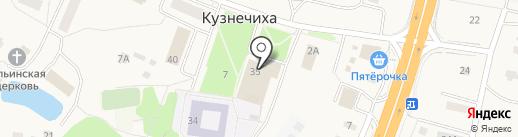 Михайловское на карте Кузнечихи