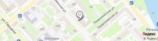 Вологодский областной союз потребительских обществ на карте Вологды