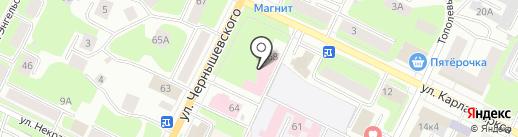 Вологодский городской родильный дом на карте Вологды