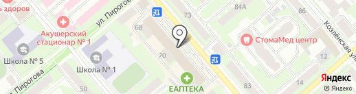 Магазин нижнего белья и колготок на карте Вологды