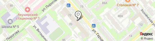 Фотон на карте Вологды