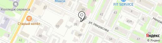 ГледенЪ на карте Вологды