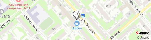 Магазин товаров для дома на карте Вологды