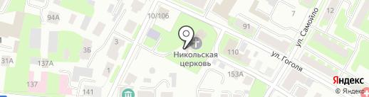Храм во имя Святителя Николая Чудотворца во Владычной слободе на карте Вологды