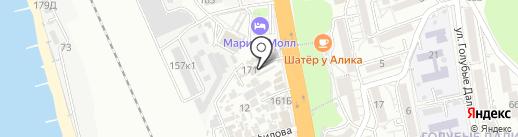 Есения на карте Сочи