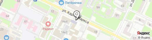 Юником на карте Вологды