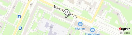 Расходка на карте Вологды