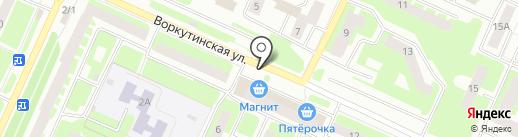 Федотовский хлеб на карте Вологды