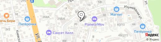 Копейка на карте Сочи