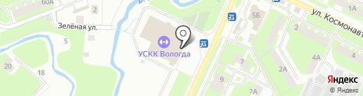 Тигруша на карте Вологды
