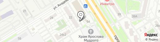 Храм Благоверного Великого князя Ярослава Мудрого на карте Ярославля