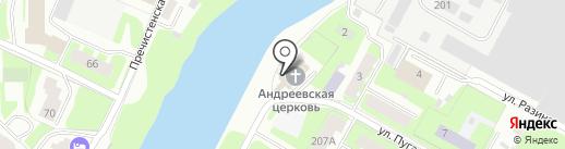 Храм во имя святого апостола Андрея Первозванного на карте Вологды
