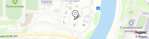 Магазин газовых котлов и счетчиков на карте Вологды