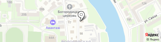 Вологодское электромонтажное предприятие на карте Вологды