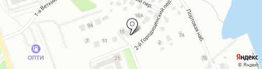 Кром-Строй на карте Ярославля