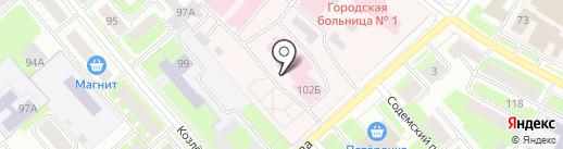 Вологодский областной онкологический диспансер на карте Вологды