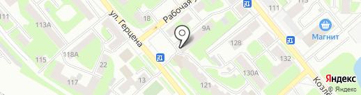 Десяточка на карте Вологды