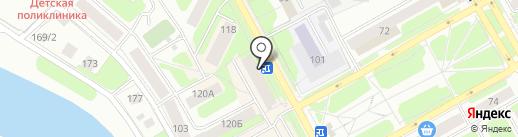 Аптека от склада на карте Вологды