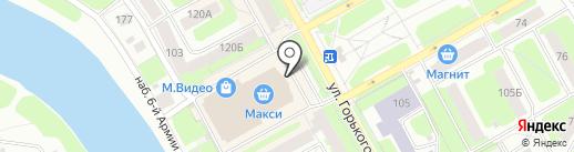 Банкомат, Мособлбанк, ПАО на карте Вологды