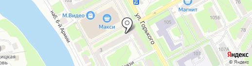 Пищеторг на карте Вологды