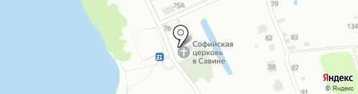 Церковь Софии Премудрости Божией на карте Ярославля