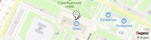 Аллея на карте Вологды