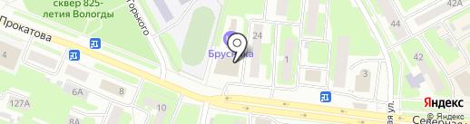 Сеть магазинов теплых полов на карте Вологды