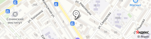 Адлер-Отдых на карте Сочи