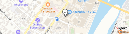 Магазин свежей выпечки на карте Сочи
