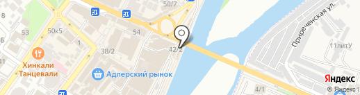 Магазин крепежных товаров на карте Сочи