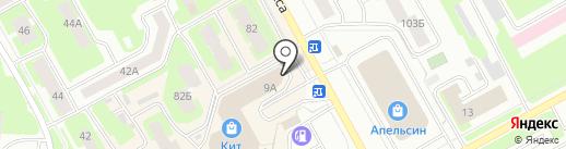 Колибри на карте Вологды
