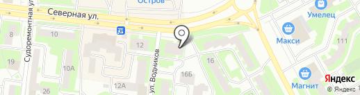Продуктовый магазин на карте Вологды