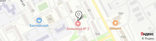 Клиническая больница №2 на карте Ярославля