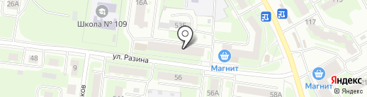 Фотокерамика на карте Вологды