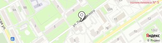 Кабинет массажа на карте Ярославля
