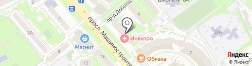 Луч на карте Ярославля