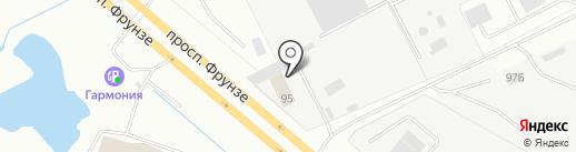 АнгарСтрой на карте Ярославля