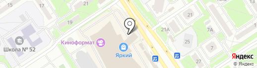 Пуговка на карте Ярославля