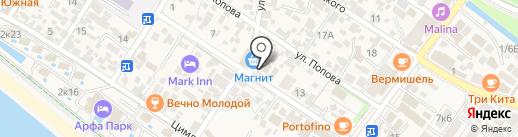 Лаванда на карте Сочи