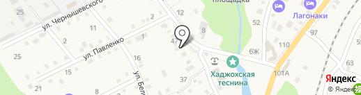 Продовольственный магазин на карте Каменномостского