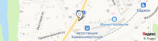 Магазин автозапчастей на карте Каменномостского