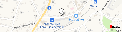 Ермолино на карте Каменномостского