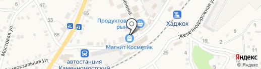 Магазин разливного пива на карте Каменномостского