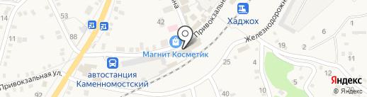 Магазин товаров смешанного типа на карте Каменномостского