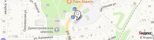 Средняя общеобразовательная школа №7, МБОУ на карте Каменномостского