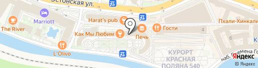 Горки Город на карте Сочи