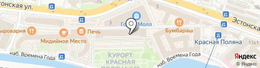 Крафтман на карте Сочи
