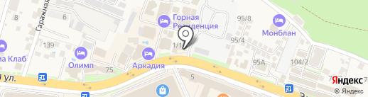 Хотэй на карте Сочи
