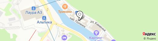 Шапо-Бонне на карте Сочи